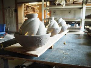備前焼末石窯窯詰