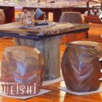 備前焼末石窯椅子花器